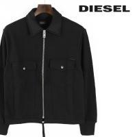ディーゼル DIESEL スウェットブルゾン メンズ ステンカラー 裾ドローコード 袖メッシュ ジップアップ 長袖 S-CAPSULE