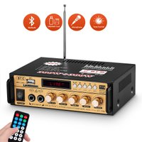 Bluetooth デジタルアンプ ステレオ ホーム/カー オーディオアンプ MIC SD / USB 音楽プレーヤー