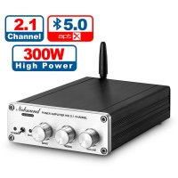 Nobsound HiFi Bluetooth APTX 2.1CH D級 300W パワーアンプ ステレオ ホーム オーディオ アンプ