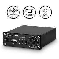 Nobsound Bluetooth 5.0 パワーアンプ ステレオ レシーバー クラスD オーディオ アンプ USB 音楽 プレーヤー