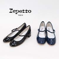 【repetto-レペット】 レディース Mary-Jane Rose パテントレザーストラップヒー...