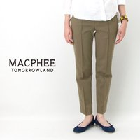 【TOMORROWLAND MACPHEE-マカフィー】レディース ストレッチカラーパンツ MACP...