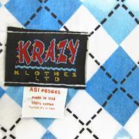 KRAZY KLOTHES LTD  (クレイジークロス)/アーガイル コットンフランネルマフラー MADE IN USA /サックス アーガイル/