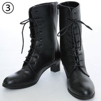 【品 名】レンタルブーツ:ブラック 【品 番】rental-b3  ※袴と同時レンタルの場合はレンタ...