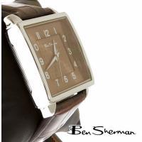Ben Sherman ベンシャーマン 本革レザー ドッグトゥース アナログウォッチ 腕時計【送料無...