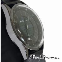 ベンシャーマン Ben Sherman オーバル ダークグレー チェック フェイス 腕時計 メンズ ...