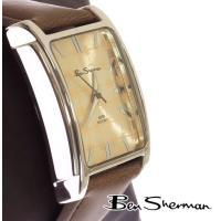 ベンシャーマン Ben Sherman スクエア ライン シャンパン フェイス レクタングル 腕時計...