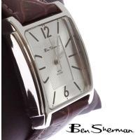 ベンシャーマン Ben Sherman スクエア ガーゼ シルバー フェイス レクタングル 腕時計 ...