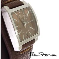ベンシャーマン Ben Sherman リストバンド ブラウン フェイス 腕時計 メンズ 【送料無料...
