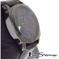 ベンシャーマン Ben Sherman サークル ガンメタル ディープブルー フェイス 腕時計 メン...