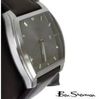 Ben Sherman ベンシャーマン 腕時計 メンズ グレー フェイス 本革レザー ベルト Lea...
