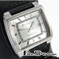 Ben Sherman ベンシャーマン 腕時計 メンズ シルバー グレー フェイス 本革 レザー ベ...