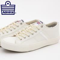 送料無料Admiral アドミラル シューズ 国内正規 靴 ホワイト 白 スニーカー メンズ レディ...