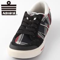 【送料無料】 Admiral アドミラル スニーカー 国内正規 靴 ブラック レッドチェック ローカ...