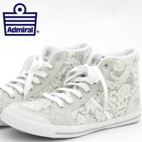【送料無料】 Admiral アドミラル スニーカー 国内正規 靴 ホワイト グレー レース 白 ハ...