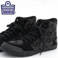 【送料無料】 Admiral アドミラル スニーカー 国内正規 靴 ブラック レオパード 黒 ハイカ...