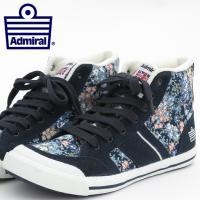 【送料無料】 Admiral アドミラル スニーカー 国内正規 靴 ネイビー フラワー 花柄 フロー...