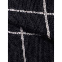 ベスト/ジレ/メンズ/ウォッシャブル/ウインドーペーン柄ニットジレ/Fabric by FILIVIVI/ ネイビー×ライトグレー