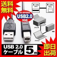 USBケーブル 5m USB2.0 ブラック  ハイスピード スタンダード USB A-TYPE (オス) - USB B-TYPE (オス) UL.YN