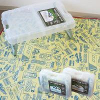 ピクニックテーブル 食器セット コップセット が一つになって登場!  食器を入れたケースはなんと折り...