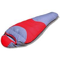 スリーピングバッグ 本格派マミー型ダウンシュラフ 寝袋【ゆっくり眠れるゆったりサイズ 220cm x...