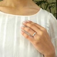 PT900 Lady's マリッジリング 4月誕生石 アクセサリー 指輪 結婚指輪