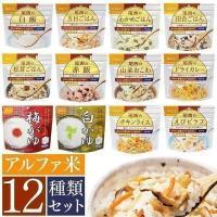 米 非常食 保存食 防災食 ご飯 ごはん 常温 スプーン付き セット 12種 5年 賞味期限 長期保存 避難グッズ アルファ米
