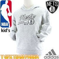 BROOKLYN NETS スウェットパーカー ジュニア バスケットボールウェア adidas DD...