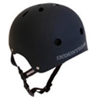 INDUSTRIAL(インダストリアル) ヘルメット 黒(ブラック)「子供~大人サイズ」スケボー スノボー BMX インライン 自転車 プロテクター