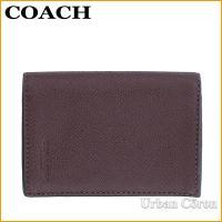 コーチ 名刺入れ 小物 メンズ COACH F86763 ブラッドレッド バイフォールド カードケース クロスグレイン レザー OXB アウトレット