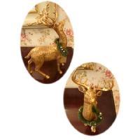 GOLDトナカイ&デコスレッドSET(クリスマス雑貨・飾り)|uriel