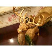 GOLDトナカイ&デコスレッドSET(クリスマス雑貨・飾り)|uriel|02