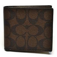 コーチ COACH 財布 折財布 メンズ F75006 MA/BR PVC シグネチャー コイン ウォレット マホガニー/ブラウン