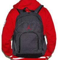 NIKE ナイキ エア・ジョーダン ジョーダン#23ベース 黒x赤刺繍ロゴ入りバックパック JUMPMAN Air Jordan リュックサック