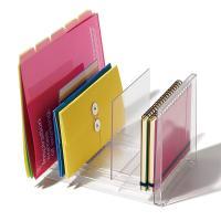 デスク周りの書類整理・管理に便利なファイルスタンドです。自由な位置に配置できる仕切り板が2つ付いてい...