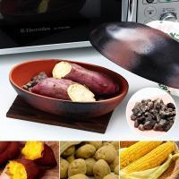 電子レンジで簡単!ふっくら石焼き芋が作られる!陶器と天然石から本格的な遠赤外線で焼ける石焼き芋鍋です...