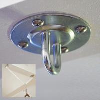 天井(梁)など垂直にかけるための取付金具です。 ※室内利用でのハンモック、チェアハンモック共通でご使...