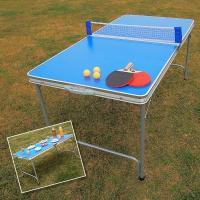 折りたたんでコンパクトに収納可能!いつでもどこでも楽しくピンポン!  卓球台、ピンポン玉、ネットフェ...