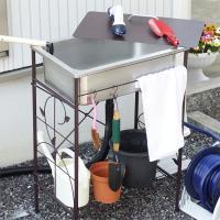 ガーデニングや洗車など、お庭での水仕事や手洗い場に最適なガーデン流し台です。 シンクには蓋が付いてお...