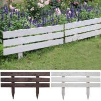 あっという間に理想のお庭に大変身! 地面に差込むだけの簡単木製フェンスで可愛い花壇を手軽にアレンジで...