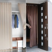 カーテン 間仕切り アコーディオンカーテン 仕切り 目隠し 断熱 冷気遮断 暖気遮断 キッチン 階段 玄関 クローゼット 押入れ 日本製 国産 つっぱり式 洗える