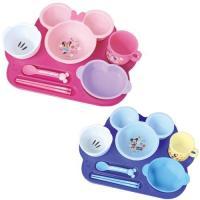 プレートに乗せて使える食器セット。箸もセットなので長い期間ご使用いただけます♪   ミニーマウスのか...