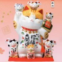 彩絵招福大開運招き猫(貯金箱)特大11.5号|utuwayaissin