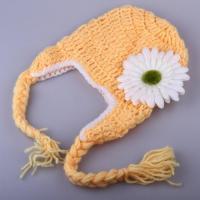ハロウィン コスプレ 輸入品 SySrion Cute Baby Infant Sunflower Costume Crochet Knit Photo Prop 0-12 Mon
