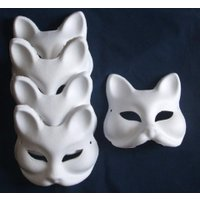 ハロウィン コスプレ 輸入品 Set of 5 Fancy Dress Costume tool DIY handmade mask mask mask summer festival cosplay mask fox surface material (japan