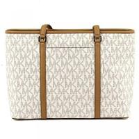 マイケルコース バッグ Michael Kors Large Sady Carryall Shoulder bag (Vanilla Pvc) 輸入品