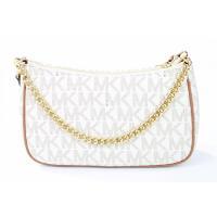 マイケルコース バッグ Michael Kors Jet Set Item Convertible Pouchette Crossbody Bag Purse Handbag (Vanilla/Acorn) 輸入品