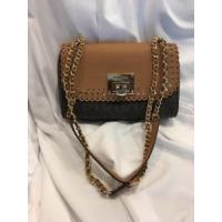マイケルコース バッグ  輸入品 Michael Kors Violet Vivian Shoulder Flap Leather Bag Brown/PLGold Chain Purse