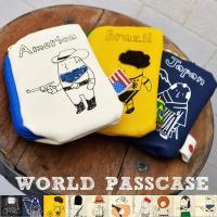 ■期間限定 全品送料無料■世界各国のワールドモチーフのパスケース☆立体刺繍でぬくもりのあるデザインで...