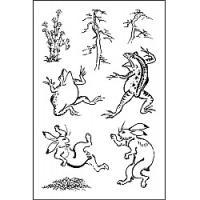 【メール便OK】国内でもファンの多い国宝「鳥獣人物戯画」のユーモラスなウサギやカエル、一緒に使いやす...